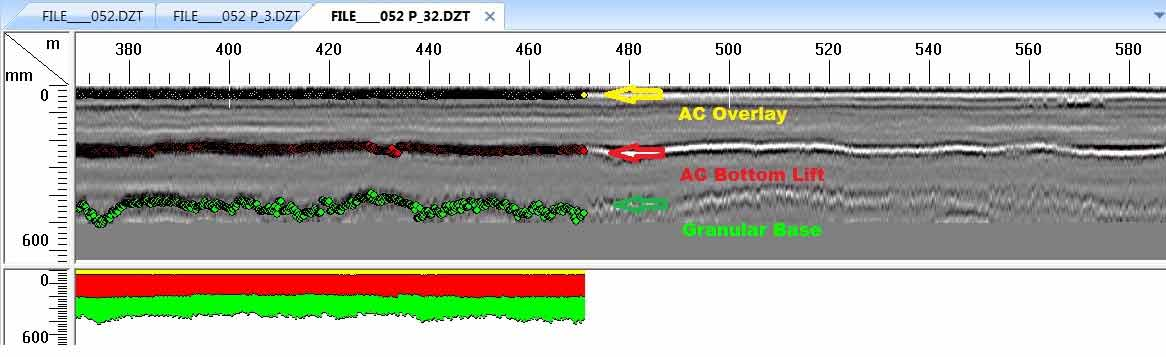 Processed GPR scan