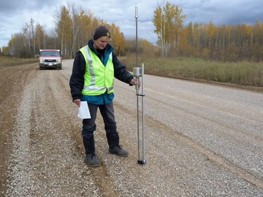 DCP Testing on Sierra Yoyo Desan road north of Fort Nelson, BC